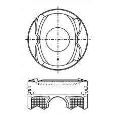 Поршень для двигателя DAIHATSU 1KR-FE