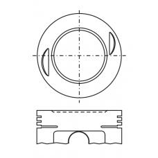 Поршень для двигателя DAIHATSU CB 60.5хх28.5 (-1.5)