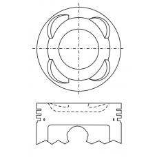 Поршень для двигателя DAIHATSU EJ-DE EJ-VE